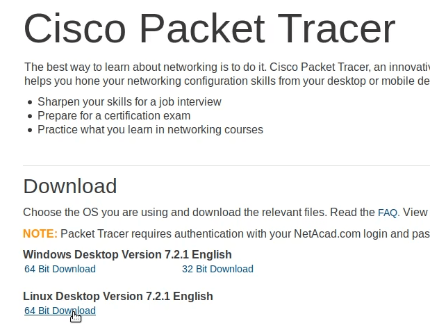 cisco packet tracer official site