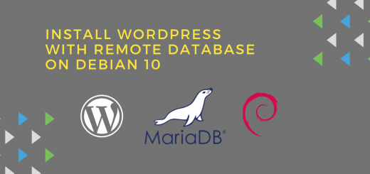 install wordpress with remote database