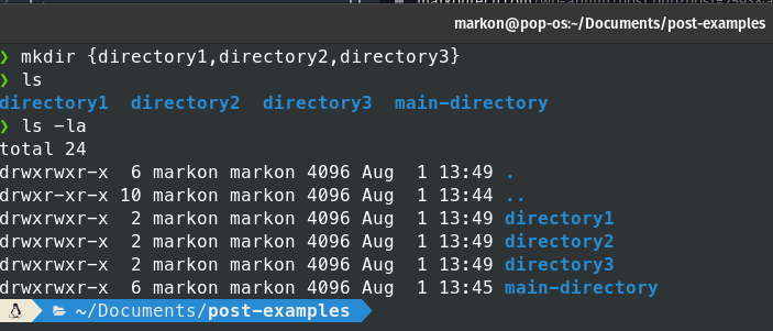 create multiple directories in Linux